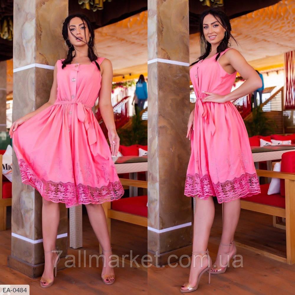 """Платье женское на бретелях модель 741 (L, M, S) """"SLAVIA"""" недорого от прямого поставщика"""