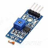 Модуль фотодатчика на фоторезисторе, обнаружение света, 4 вывода, фото 5
