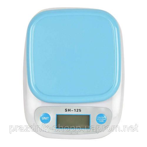 Весы кухонные SH-125, 7кг, (1г), чаша