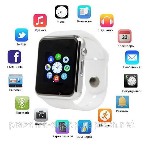 Smart часы A1 + камера, white