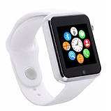 Smart часы A1 + камера, white, фото 5