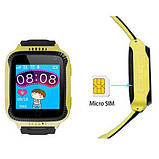 Smart часы детские с GPS Q528 + камера, yellow, фото 2