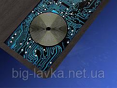 Коврик для мышки Coolreall с беспроводной зарядкой по стандарту QI  Коричневый