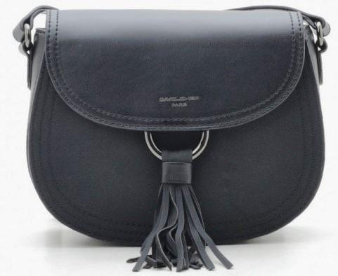 Женская сумка через плечо из эко кожи David Jones черная