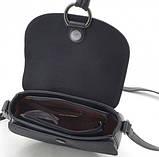 Женская сумка через плечо из эко кожи David Jones черная, фото 5