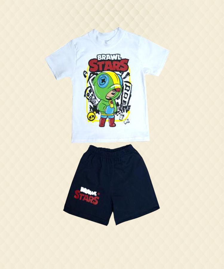 Комплект футболка  +  шорты  шелкография кулир