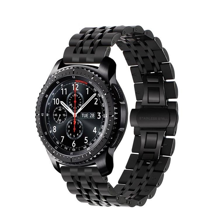 Ремешок 22мм BeWatch classic стальной Link Xtra для Samsung Gear S3 Black (1021401.x)