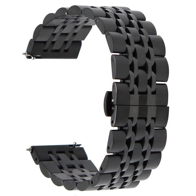 Ремешок для часов универсальный BeWatch classic стальной Link 22мм Black (1021401.9x)