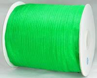 Лента из органзы зеленая 7мм ЛШ06-3