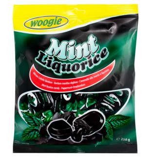 Леденцы Woogie Mint Liquorice 225 g