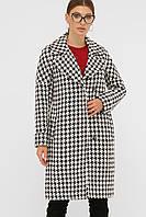 Шерстяное пальто прямого силуэта
