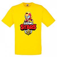Футболка детская Бравл Старс Макс (Brawl Stars Maks) желтая