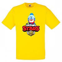 Футболка детская Бравл Старс Гейл (Brawl Stars Gale) желтая