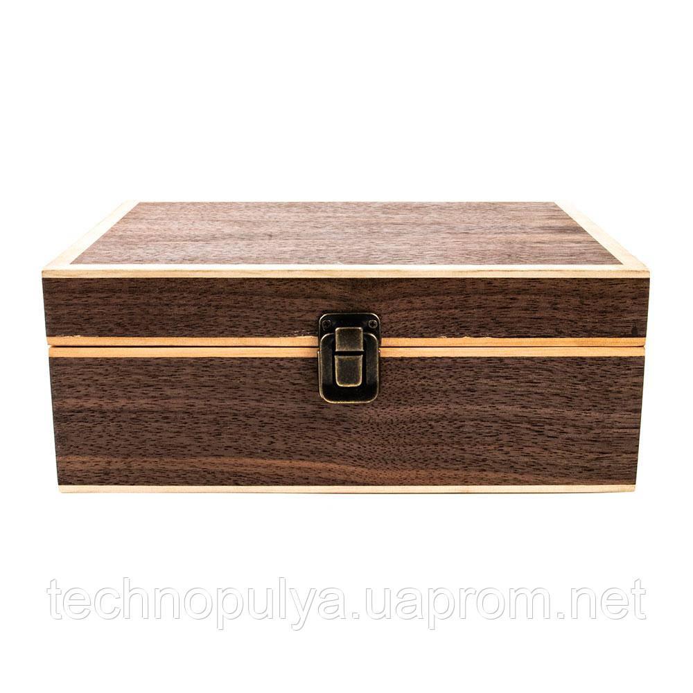 Экранирующая настольная шкатулка на 4 смартфона Locker Box 4 Walnut (hub_mRCH06406)