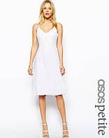 Платье-майка с декоративной отделкой эксклюзивно ASOS AS431456 UK8 (13715UK8) Белый