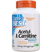 Жиросжигатель Doctor's Best Acetyl-L-Carnitine 500 mg, 120 капсул