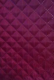 Ткань подкладочная на синтепоне стёганая бордо мелкий ромб