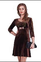 Вечернее платье из велюра черного цвета, фото 3