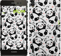 Чехол EndorPhone на Huawei Ascend P7 Панды 4318c-49, КОД: 1678575