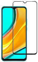 Защитное стекло полное для Xiaomi Redmi 9 / Redmi 9A / Redmi 9C Black (стекло с рамкой для Сяоми Редми 9 ,
