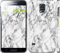 Чехол EndorPhone на Samsung Galaxy S5 Duos SM G900FD Мрамор белый 4480c-62, КОД: 1737501