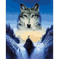 Картина по номерам Babylon VP929 Одинокий волк 40х50см бебилон картины Животные, рыбы, птицы
