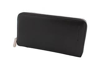 Кожаный кошелек-барсетка MARCO COVERNA, черный, 1 молния