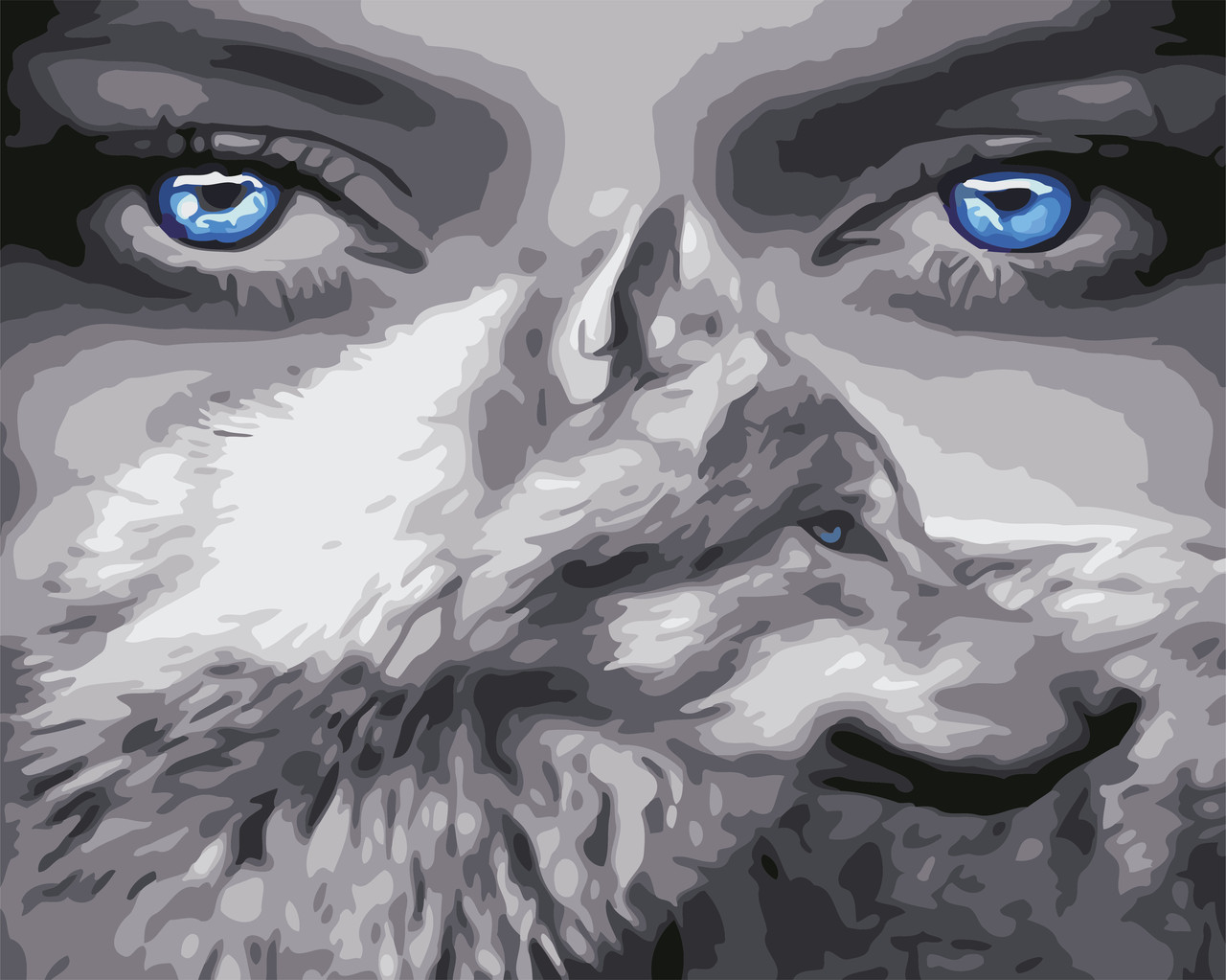 Картина по номерам ArtStory Взгляд волчицы 40*50 см (в коробке) арт.AS0588