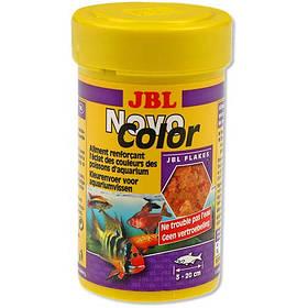 Основний корм у формі пластівців JBL NovoColor для яскравого забарвлення акваріумних рибок, 100 мл