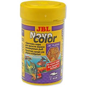 Основний корм у формі пластівців JBL NovoColor для яскравого забарвлення акваріумних рибок, 250 мл