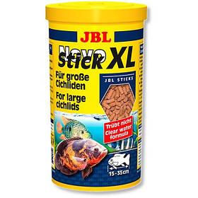 Основной корм JBL NovoStick XL в форме гранул для крупных хищных цихлид, 1 л