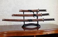 Катаны (3 самурайских меча) с подставкой