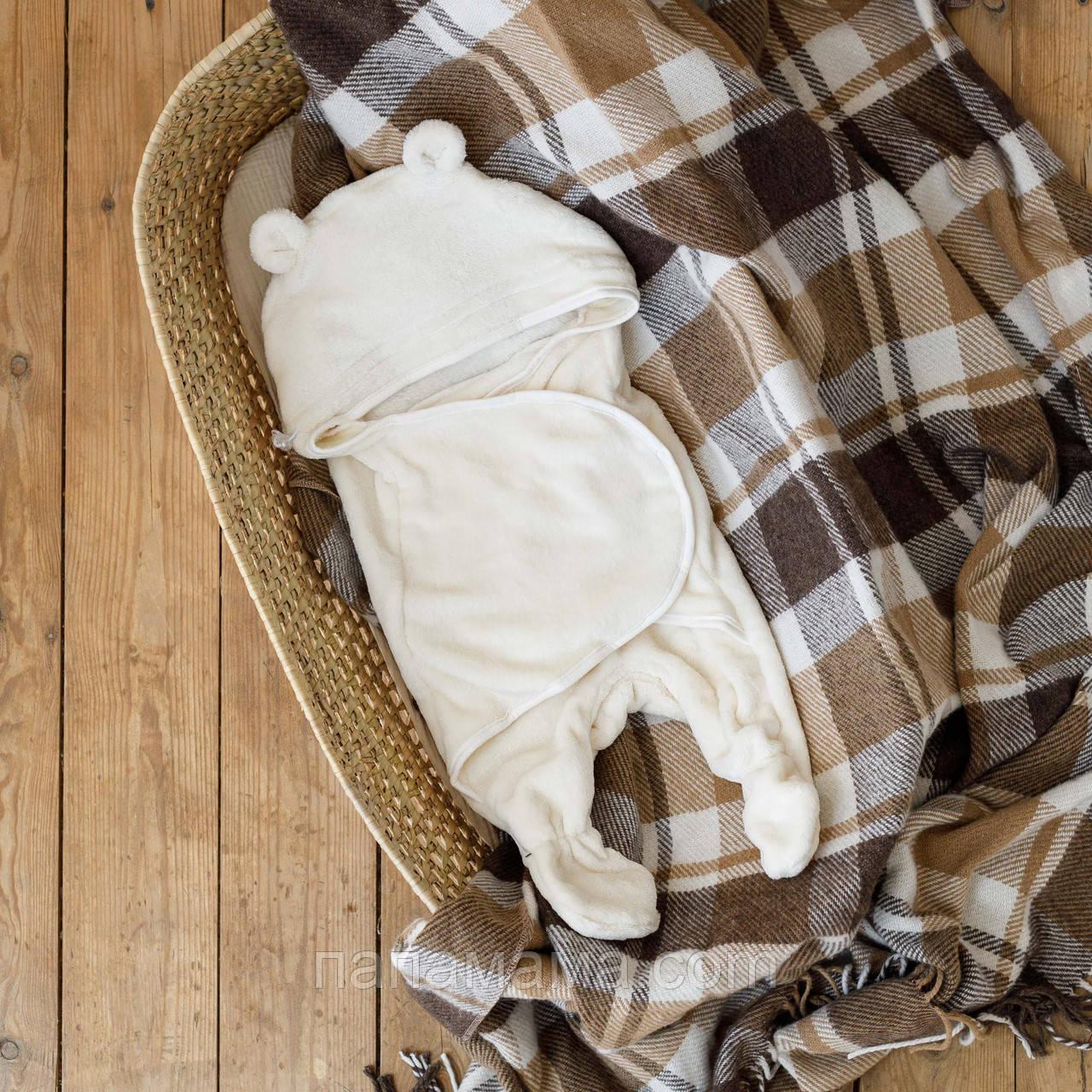 Универсальный махровый спальник - человечек 6-12 мес кокон конверт