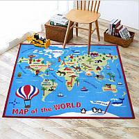 Коврик для детской комнаты Карта мира 100 х 150 см Berni Home