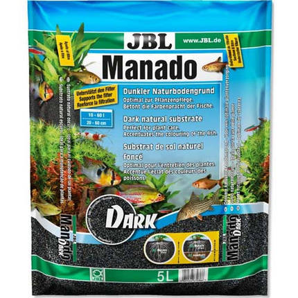 Темний натуральний субстрат JBL Manado Dark для акваріумів, 10 л, фото 2