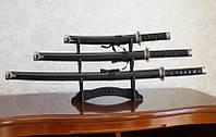 Катаны (3 самурайских меча) с подставкой (№3)