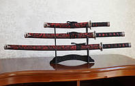 Катаны (3 самурайских меча) с подставкой (№4)