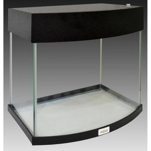 Акваріум AquaStar овальна передня стінка, 35 л, LED, чорний