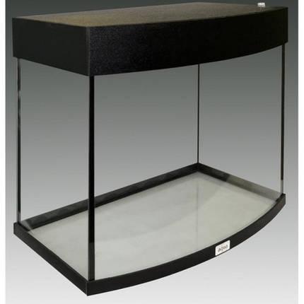 Акваріум AquaStar овальна передня стінка, 60 л, LED, чорний, фото 2