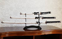 Катаны (3 самурайских меча) с подставкой (№5)