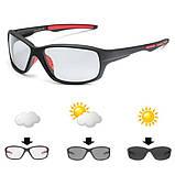 Фотохромные очки SSKP0060 Черный+Красный, фото 3