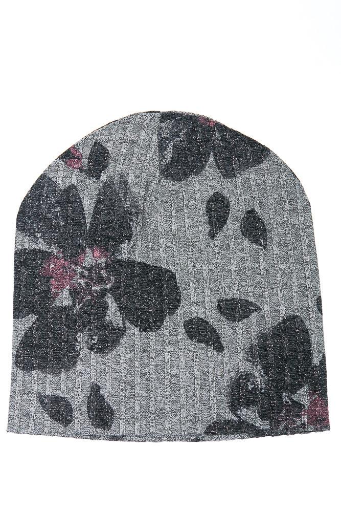 Шапка женская 120PTR18007 (Светло-серый/темно-серый)