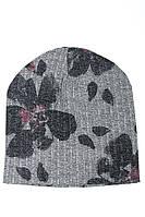 Шапка женская 120PTR18007 (Светло-серый/темно-серый), фото 1
