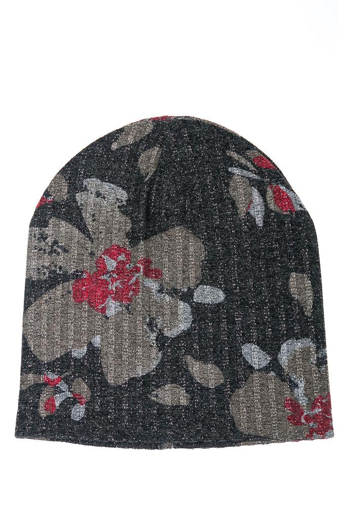 Шапка женская 120PTR18007 (Темно-серый/бронза)