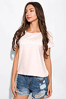 Стильная футболка с надписью 151P184 (Светло-розовый), фото 1