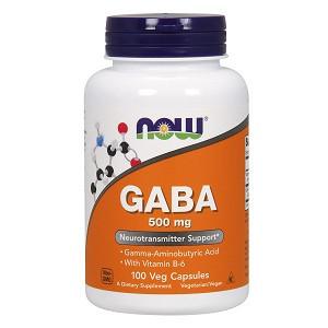 Аминокислоты Габа Now GABA 500 mg (100 капсул.)