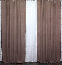 "Светонепроницаемая ткань блэкаут ""Амели"" Высота 2.7м. Цвет коричневый 550ш, фото 3"