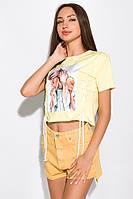 Топ женский с принтом 120PAML006 (Желтый), фото 1