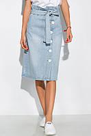 Джинсовая юбка модного покроя 120PAML063 (Голубой)