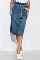 Джинсовая юбка модного покроя 120PAML063 (Светло-синий)